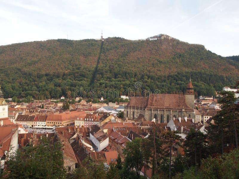 Vue de ville de ville roumaine brasov photo stock