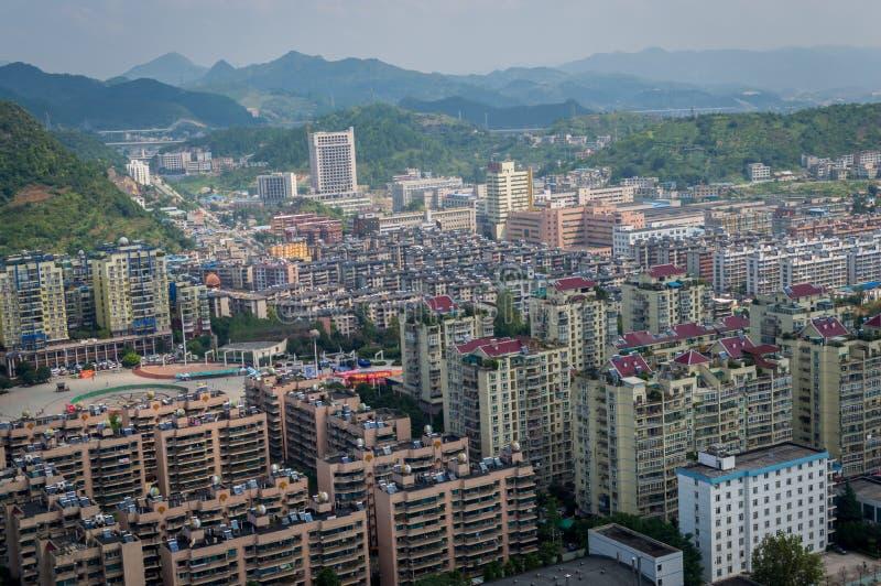 Vue de ville de Villege de Guiyang, porcelaine 3 photographie stock libre de droits
