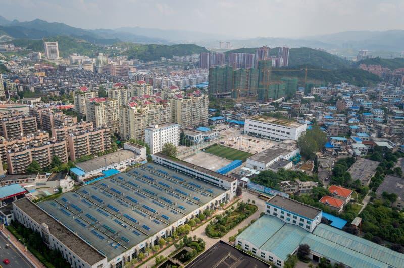 Vue de ville de Villege de Guiyang, porcelaine 6 photos stock