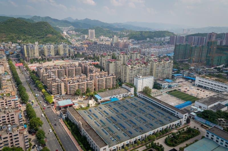 Vue de ville de Villege de Guiyang, porcelaine 7 image stock
