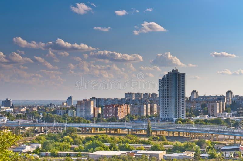 Vue de ville de Volgograd images libres de droits