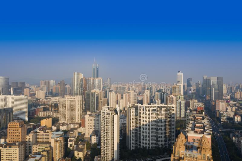 Vue de ville de Guangzhou en Chine images libres de droits