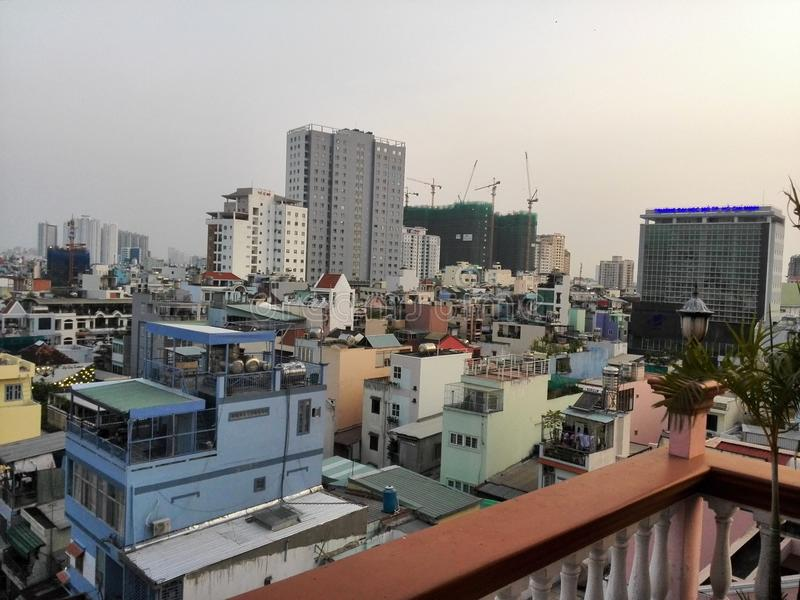 Vue de ville de Ho Chi Minh images libres de droits