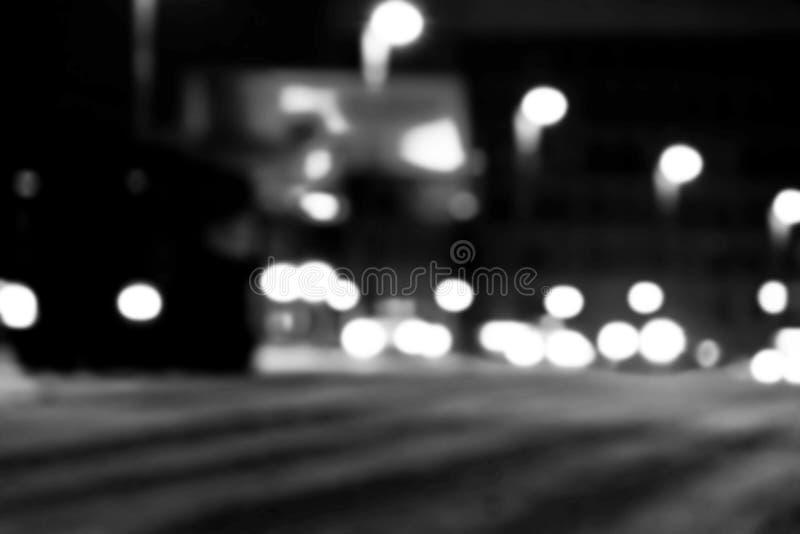 Vue de ville de nuit dans la tache floue Photo trouble de feux de signalisation de vitesse de ville Image de bokeh de vie dans la photographie stock