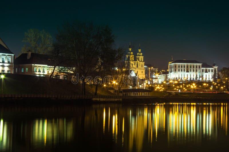 Vue de ville de nuit de Minsk photos libres de droits