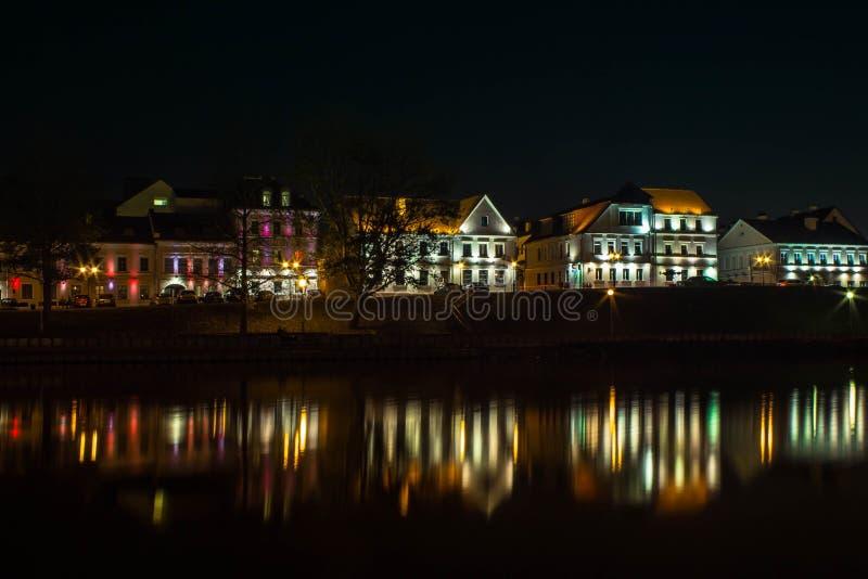 Vue de ville de nuit de Minsk photo stock