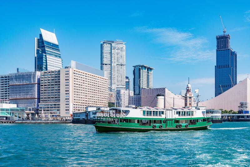 Vue de ville de péninsule de Kowloon au temps de jour photo libre de droits