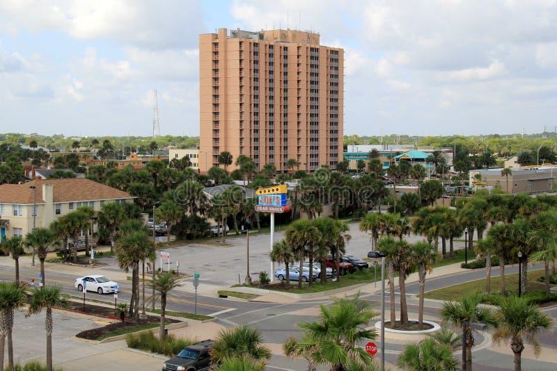 Vue de ville, plage de Jacksonville, la Floride, 2015 image stock