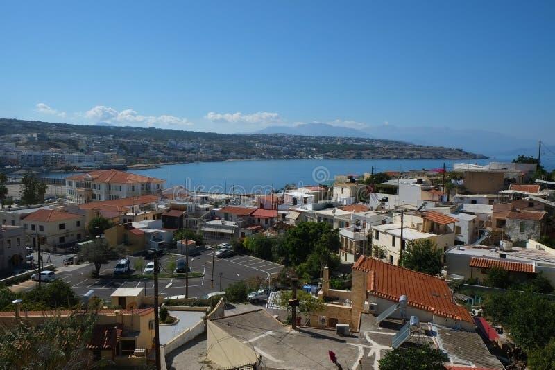 Vue de ville de Rethymno, Crète, Grèce photos stock