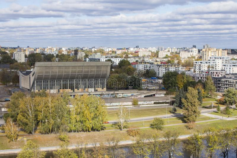 Vue de Vilnius du clou lithuania photo libre de droits