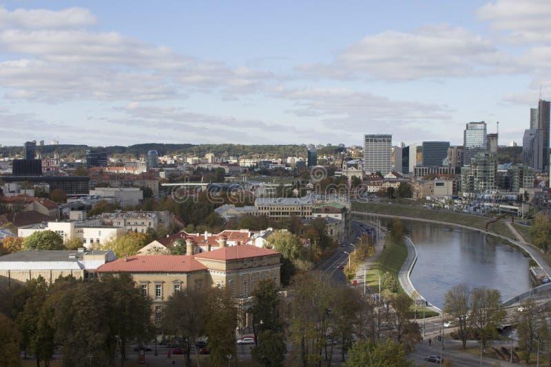 Vue de Vilnius du clou lithuania photos stock