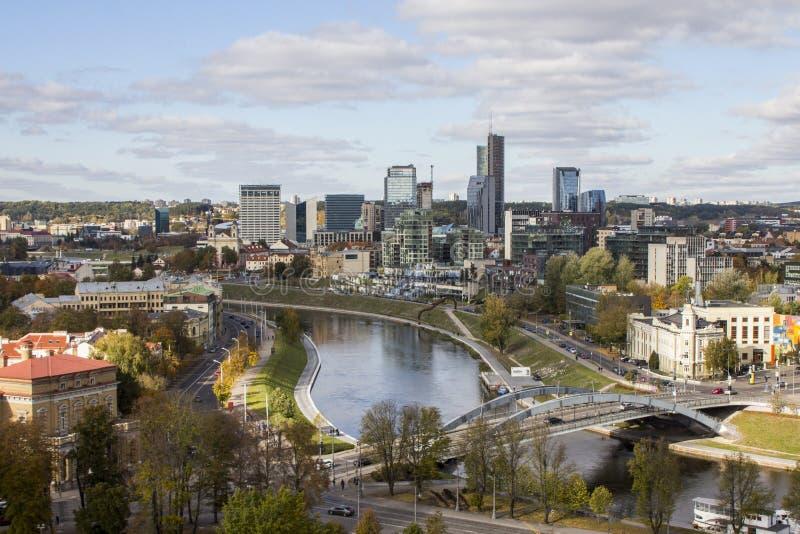 Vue de Vilnius du clou lithuania images stock