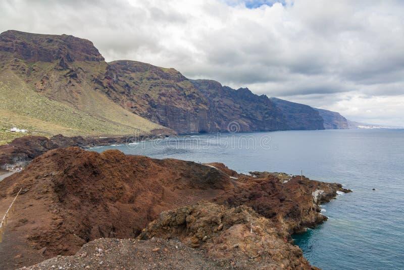 Vue de visibilité directe Gigantes de Mirador Punta de Teno photo libre de droits