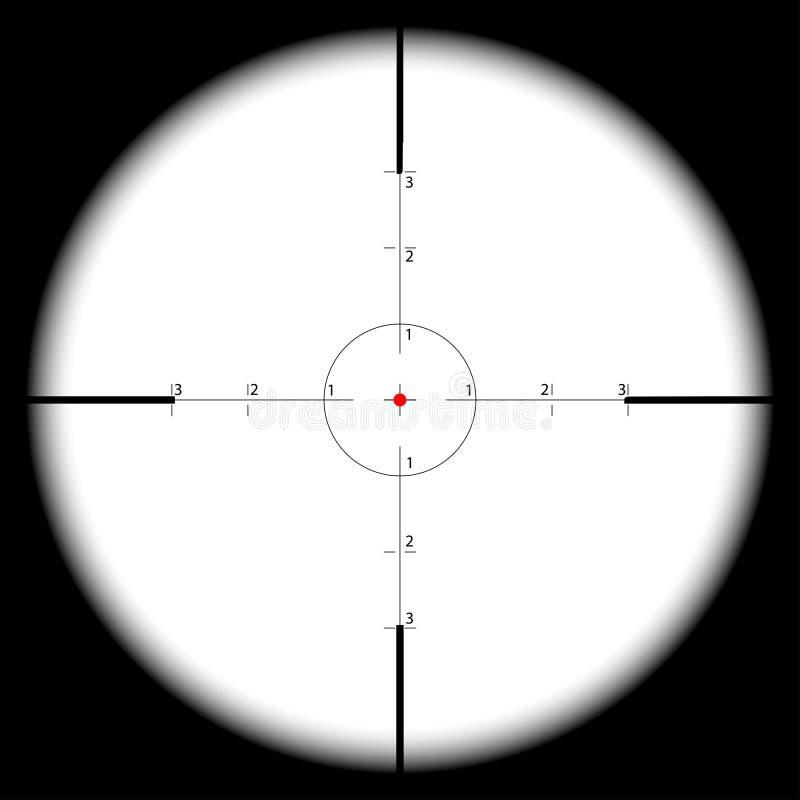 Vue de vue de la portée du tireur isolé photos libres de droits