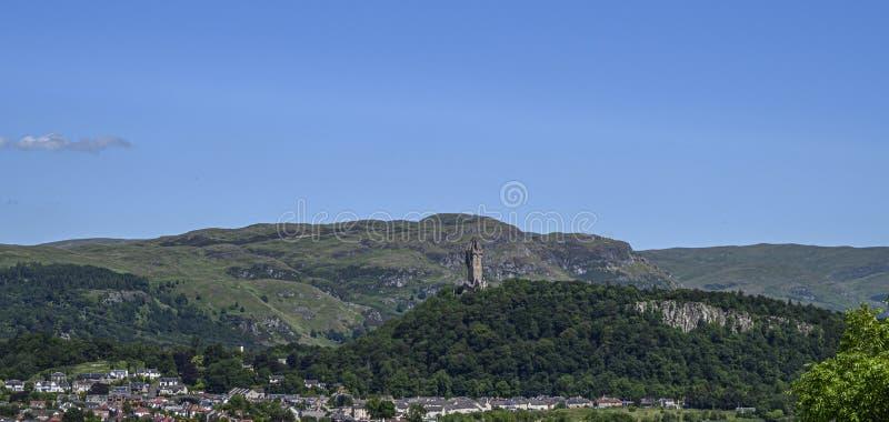 Vue de Wallace Monument Stirling photos stock
