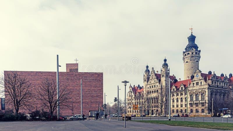 Vue de Wilhelm Leuschner Square photo libre de droits