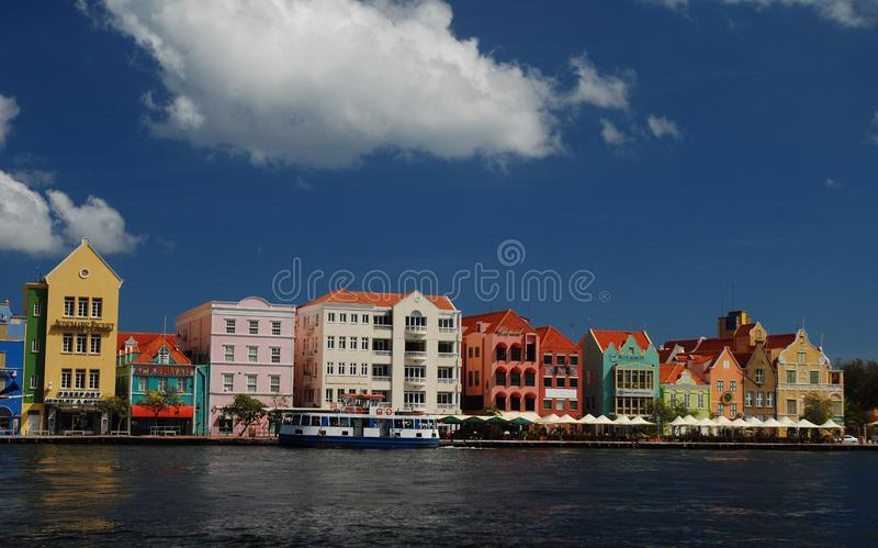 Vue de Willemstad du centre, Curaçao Antilles néerlandaises photos stock