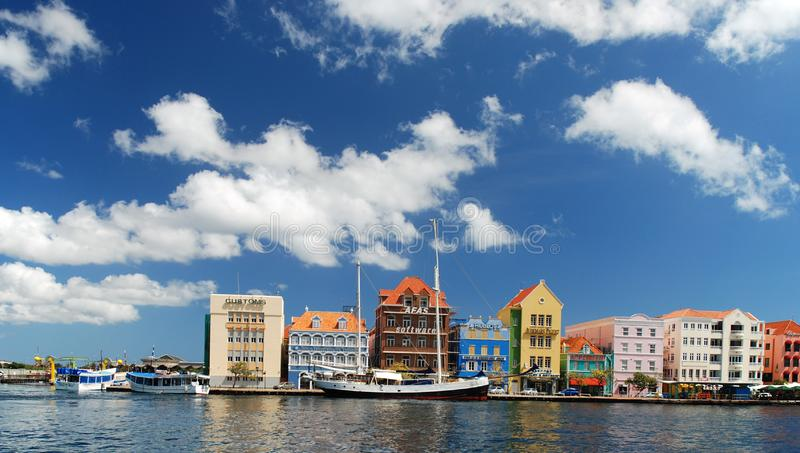 Vue de Willemstad du centre, Curaçao Antilles néerlandaises photo stock