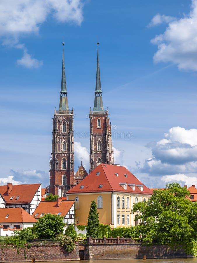 Vue de Wroclaw photos libres de droits