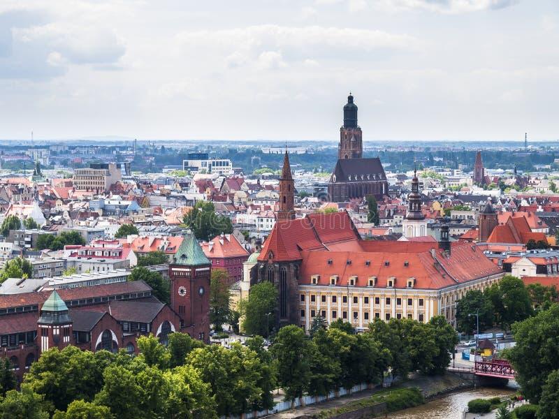 Vue de Wroclaw images libres de droits