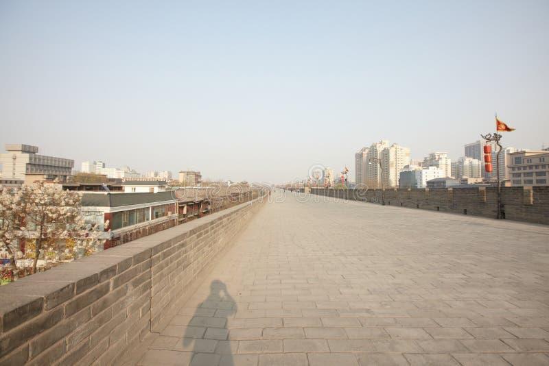 Vue de Xian du mur de ville photos libres de droits