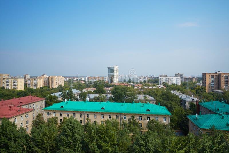 Vue de zone résidentielle de ville images stock