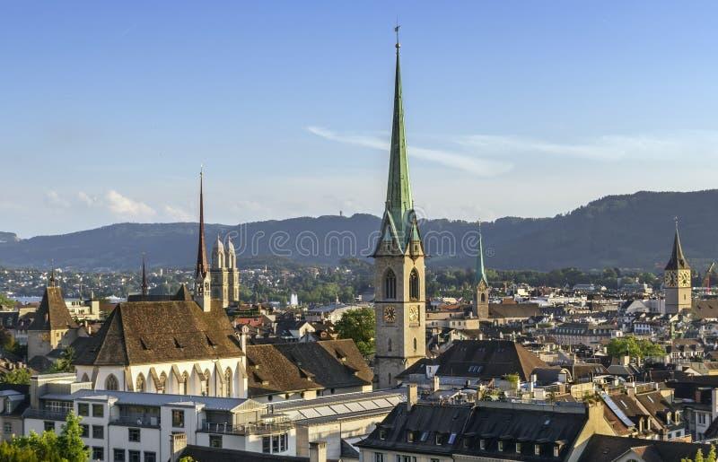Vue de Zurich photo libre de droits