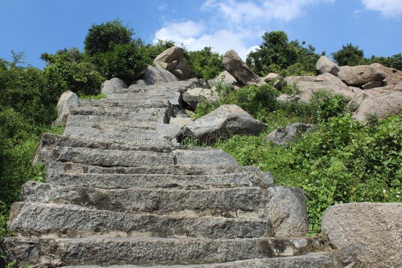 Vue des étapes amenant une colline photographie stock