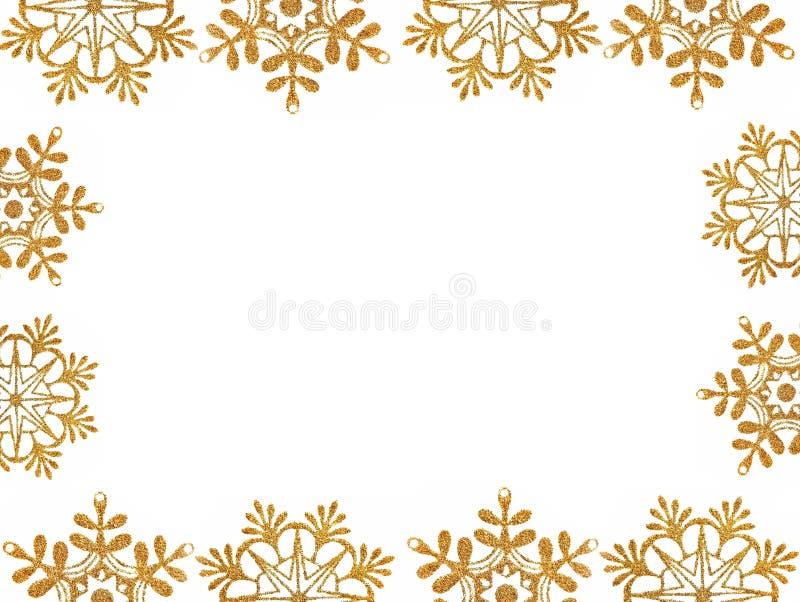 Vue des étoiles de neige d'or illustration stock