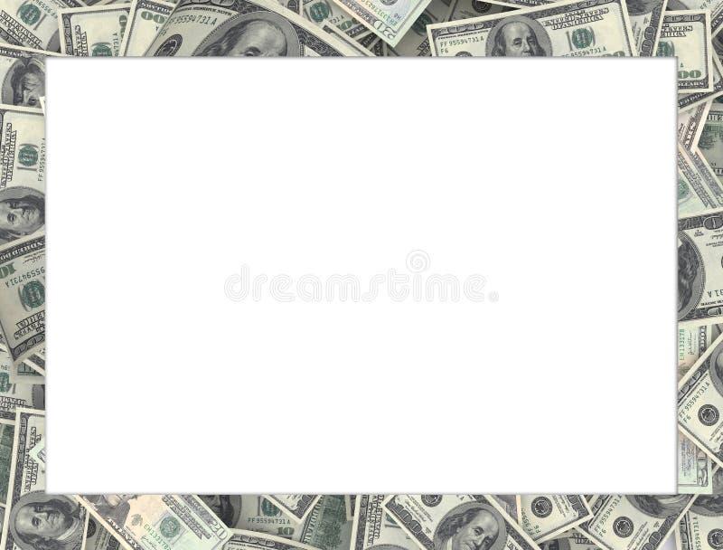 Vue des billets de banque du dollar 100, fond blanc image stock