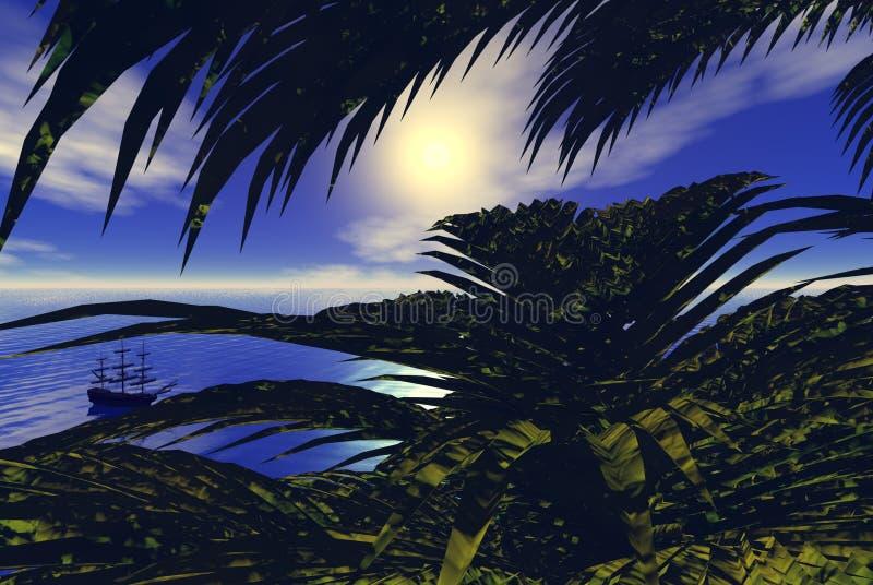 Vue des Caraïbes illustration de vecteur