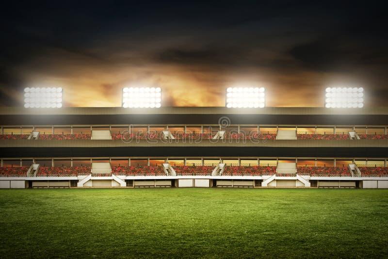 Vue des champs de stade de football image libre de droits