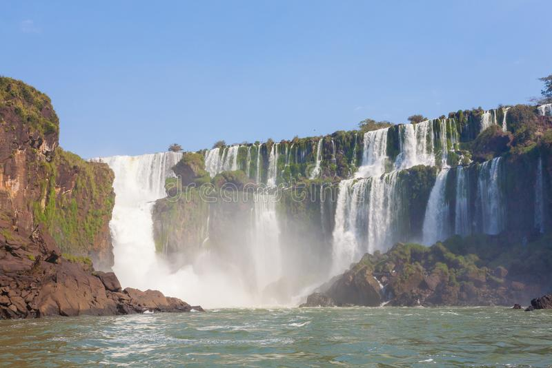 Vue des chutes d'Iguaçu, Argentine photo stock