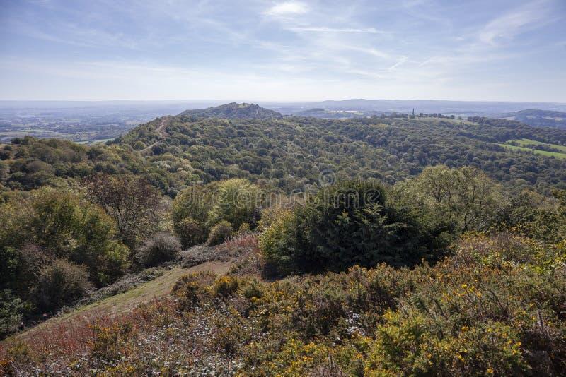 Vue des collines de Malvern dans Worcestershire, Angleterre photos libres de droits