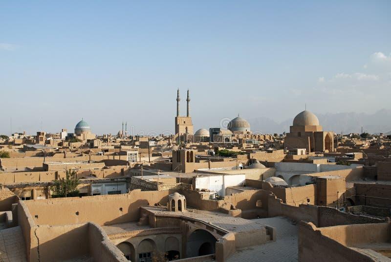 Vue des dessus de toit dans le yazd Iran photo stock