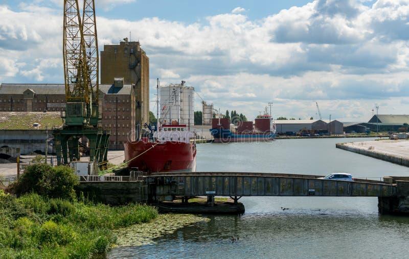 Vue des docks d'acuité de Th, Englsnd images libres de droits