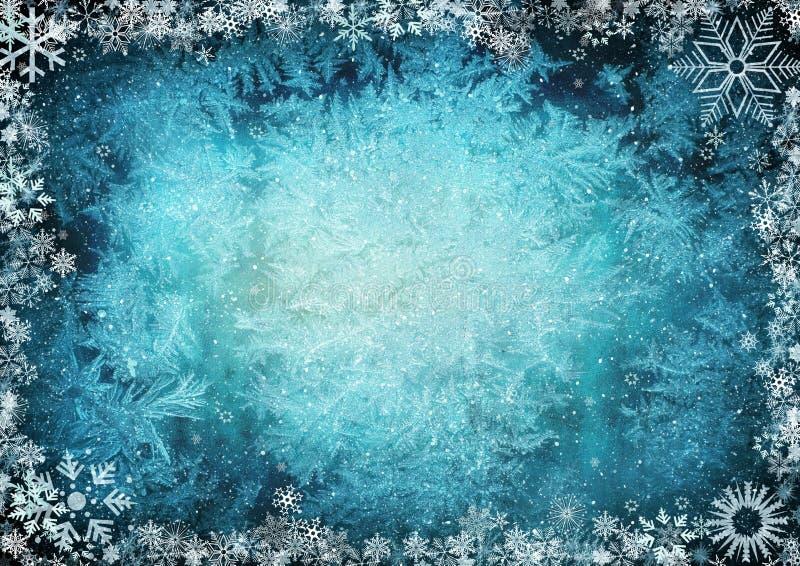 Vue des flocons de neige illustration libre de droits
