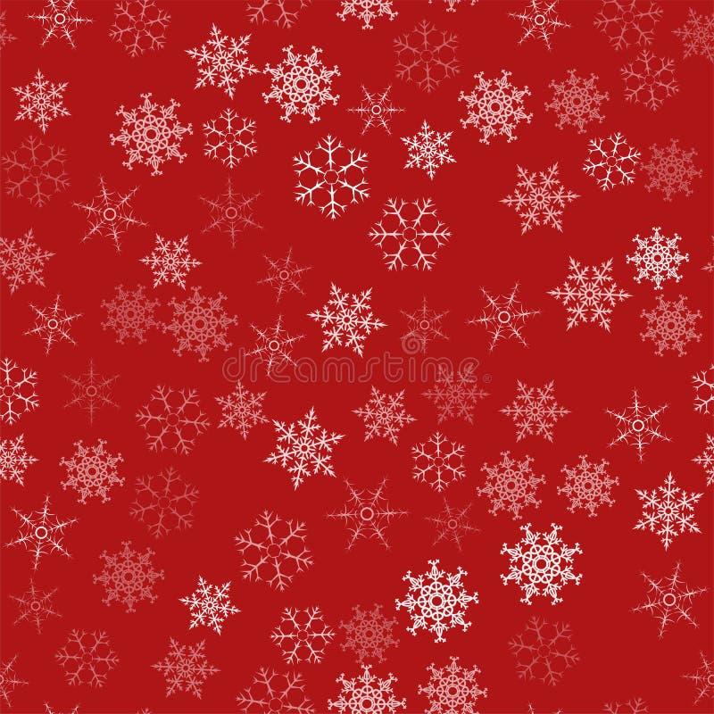 Vue des flocons de neige Fond de fête de Noël Pour concevoir des affiches, cartes postales, salutation, invitation pendant la nou illustration de vecteur
