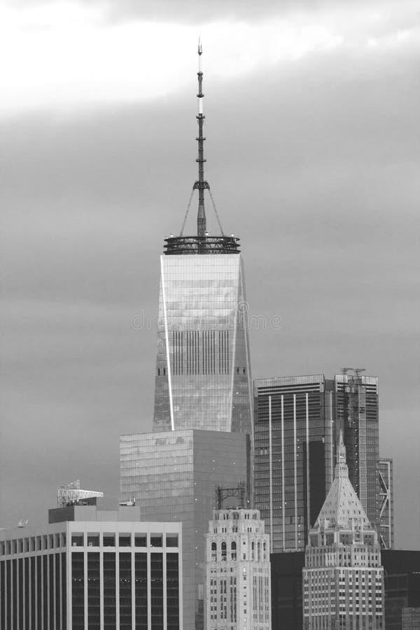 Vue des gratte-ciel, Manhattan, New York Le World Trade Center WTC au-dessus des autres bâtiments images libres de droits