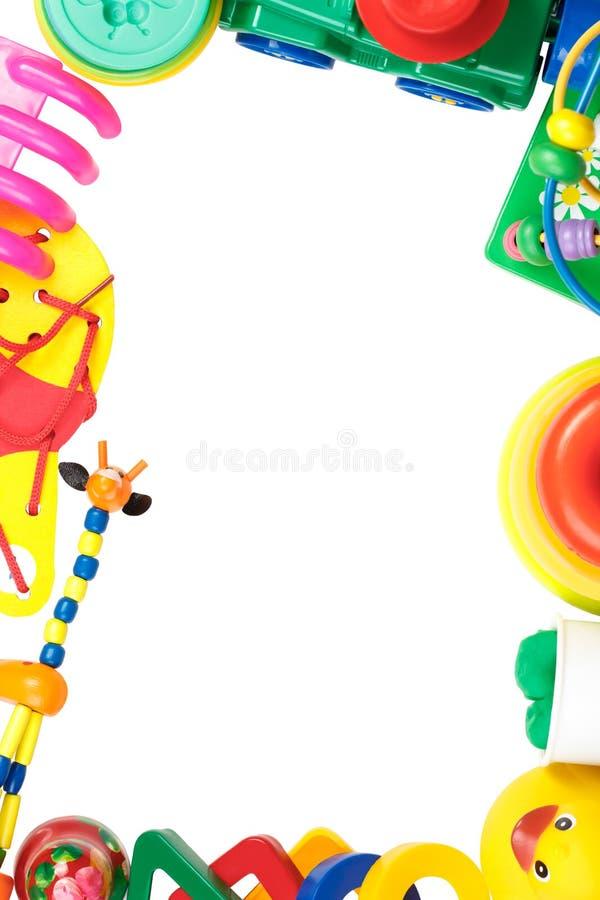 Vue des jouets d'isolement sur le fond blanc photos libres de droits