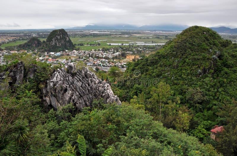 Les montagnes de marbre, Da Nang, Vietnam images stock