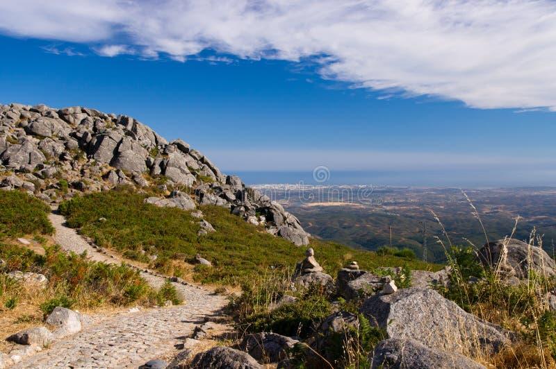 Vue des montagnes de Monchique photos libres de droits