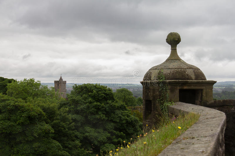 Vue des murs de Stirling Castle à Stirling, Ecosse photographie stock
