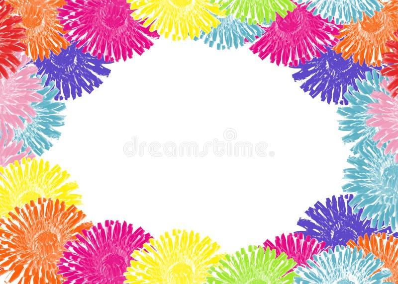 Vue des pissenlits colorés illustration de vecteur