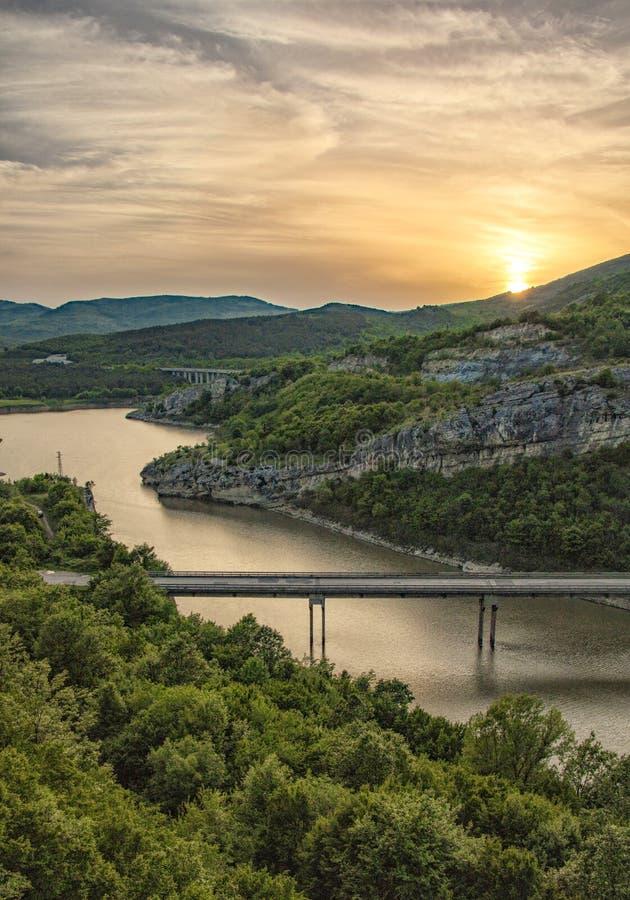 Vue des roches merveilleuses, Bulgarie images stock