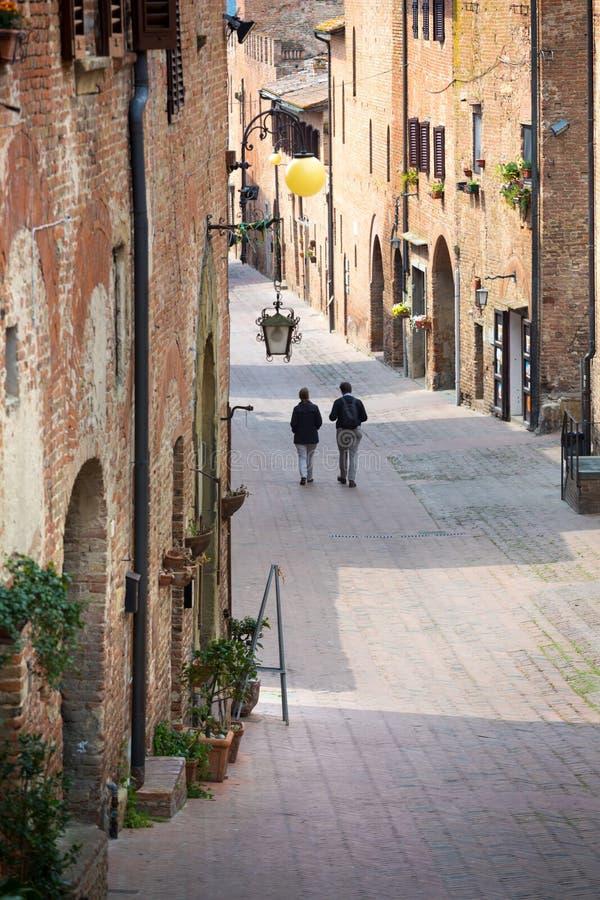Vue des rues Certaldo photo libre de droits
