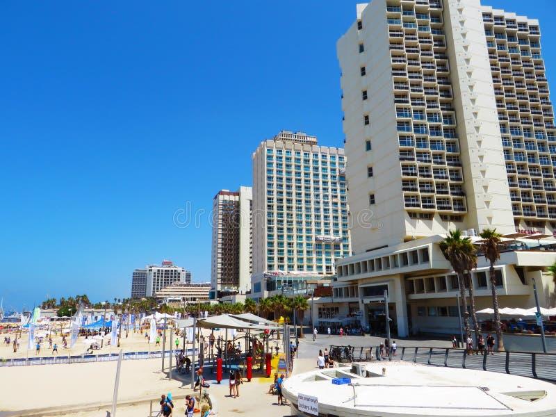 Vue des rues de Tel Aviv Attraction touristique de la ville Été de 2018 photos libres de droits