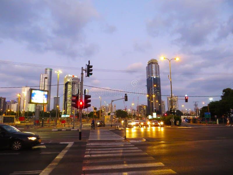 Vue des rues de Tel Aviv Attraction touristique de la ville Été de 2018 photo libre de droits