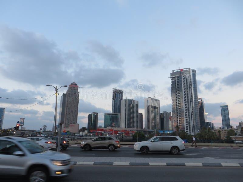 Vue des rues de Tel Aviv Attraction touristique de la ville Été de 2018 image libre de droits