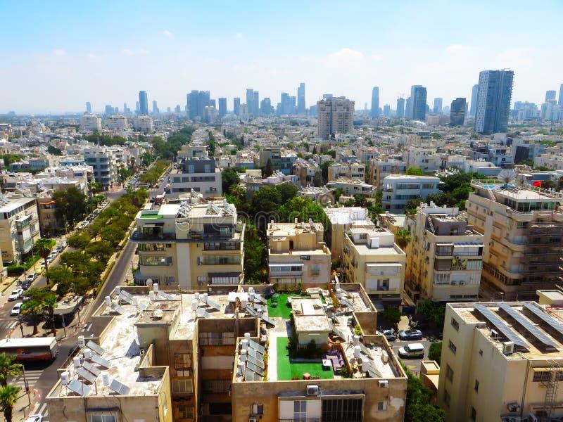 Vue des rues de Tel Aviv Attraction touristique de la ville Été de 2018 photos stock